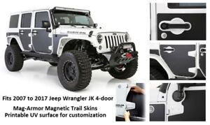 Jeep Mag armor Magnetic Trail Skins For 07 17 Jeep Wrangler 4 door