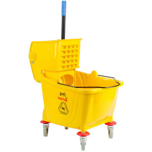 Lavex Janitorial Yellow 36 Quart Mop Bucket Wringer Combo Supplies