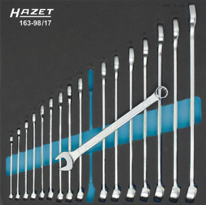 Metric Combination Wrench Set 17 Piece Hazet 163 98 17 German Made Brand New