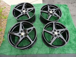 4 Ferrari 458 Italia Oem Factory 20 Wheels Rims Black 20x8 5 20x10 5