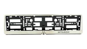 Metal Frame Steel Holder For European Euro License Plate Stainless Mitsubishi