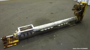 Used Screw Conveyor 304 Stainless Steel Approximate 6 Diameter X 88 Long Sc