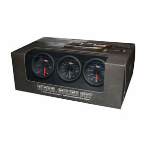 Glowshift Black 7 Color Diesel Gauge Set 60 Boost 2400 Pyrometer Egt Trans Temp