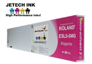 Roland Esl5 5 Eco solvent Max3 Compatible 500ml Ink Cartridge Magenta