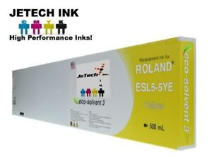 Roland Esl5 5 Eco solvent Max3 Compatible 500ml Ink Cartridge Yellow