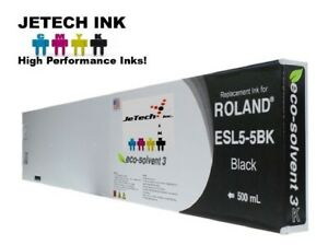 Roland Esl5 5 Eco solvent Max3 Compatible 500ml Ink Cartridge Black
