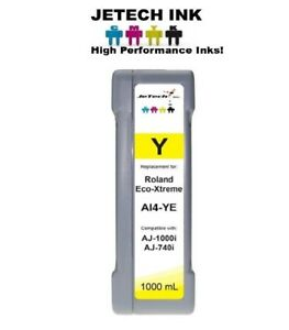 Roland Eco xtreme Lt Ai4 Compatible 1000ml Eco Solvent Ink Cartridge Yellow