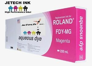 Roland Aqueous Dye Compatible 220ml Ink Cartridge fdy Magenta