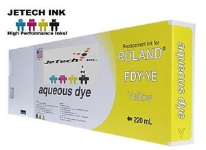 Roland Aqueous Dye Compatible 220ml Ink Cartridge fdy Yellow