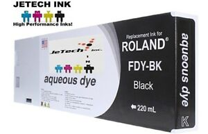 Roland Aqueous Dye Compatible 220ml Ink Cartridge fdy Black
