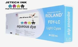 Roland Aqueous Dye Compatible 220ml Ink Cartridge fdy Light Cyan
