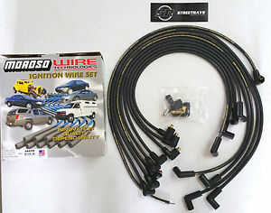 Moroso Sbc Chevy 350 305 Spark Plug Wires Socket Style 90 Degree Under Header