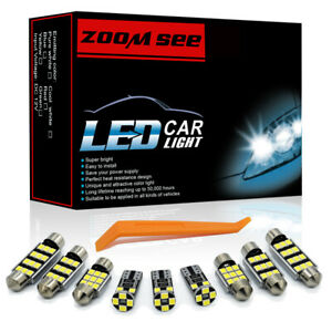 20pcs Led Door Footwell Lights For Audi A3 S3 8p Interior Dome Lamp Kit 03 13