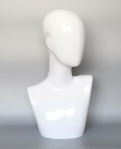 New White Abstract Woman Mannequins Manikin Head Hats Wig Mould Jewelry Dispaly