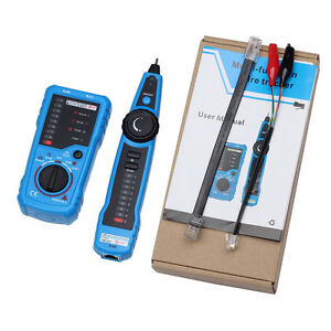 Cable Tester Wire Tracker Network Detector Line Finder Tracer Toner Ethernet Lan