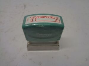 Qty 1 Box Of 12 Xstamper Pre inked Stamp Posted Red Ink No 1211