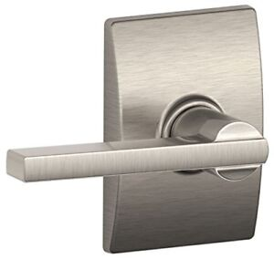 Schlage F10 Lat 619 Cen Century Collection With Latitude Passage Lever Satin