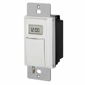 Intermatic St01 7 Day Programmable In Wall Digital Timer Switch For Lights And