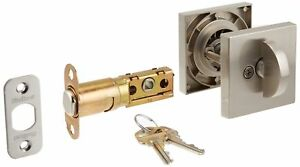 Kwikset 158 Square Single Cylinder Deadbolt Featuring Smartkey In Satin Nickel