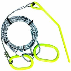 Timber Tuff Tmw 48 Log Choker Cable With Ring And Probe Stake