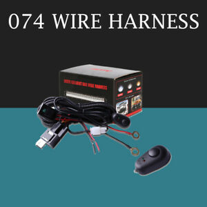 Universal Wiring Harness Switch Relay Kit For Connect Led Work Driving Light Bar