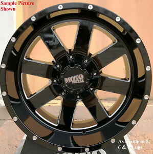 4 New 17 Wheels For Chevy Gmc Silverado 2500 3500 8 Lug 21718