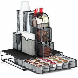 Halter All In One Mesh Coffee Organizer Accessory Bundle Condiment Caddy