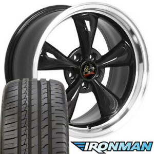18x9 Wheels And Tires Fit Ford Mustang Bullitt Style Black Rim W ironman