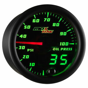 Maxtow 52mm Black Double Vision Electronic Oil Pressure Psi Gauge Mt Dv04