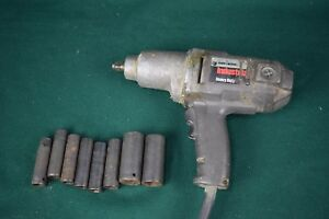 Black And Decker Industrial Electric Impact Wrench With Sockets