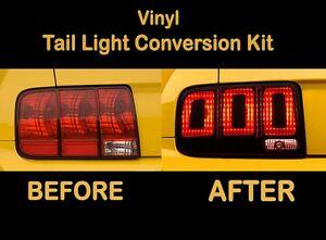 2008 2009 Ford Mustang Tail Light Conversion Kit To 2013 Vinyl Decal Wrap