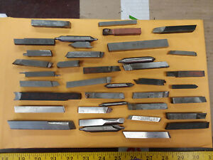 Vintage Lot Of 38 Lathe Cutting Blades Machinist Tools Momax Rex 95 Ect