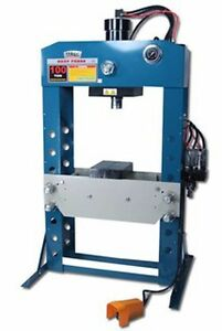 Baileigh Industrial Hsp 100a 100 Ton Air Hydraulic Shop Press 11 8 Stroke