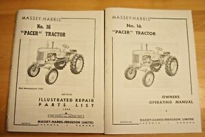 Massey Harris Pacer No 16 Tractor Owner s Manual Parts Catalog Mh Continental
