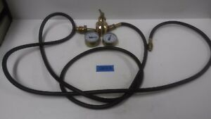 Generic Gas Regulator With Approx 10 Hose For C02 Or Argon Use No Oil