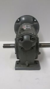 Charles Bond Duel Shaft Right Angle Speed Reducer Worm Gearbox 51 1 Ratio