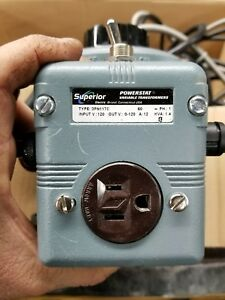 Superior Powerstat Variac Type 117 12 Amp 0 120v