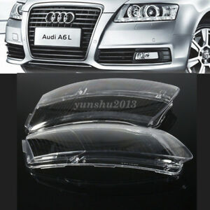 For Audi A6 C6 06 11 Headlight Lens Lampshade Pc Shell Cover Right Left Replace