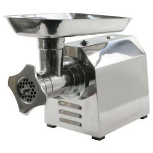 New Sportsman Industrial Commercial Grade Electric Meat Grinder Stainless Steel