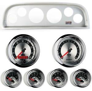 60 63 Chevy Truck Silver Dash Carrier W Auto Meter American Muscle Gauges
