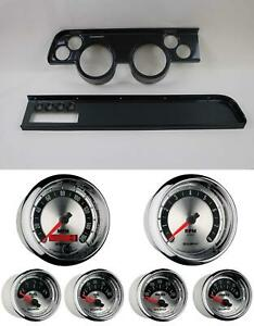 67 68 Cougar W ac Carbon Dash Carrier W Auto Meter American Muscle Gauges