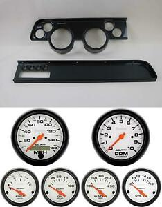 67 68 Cougar W Ac Carbon Dash Carrier W Auto Meter Phantom Electric Gauges