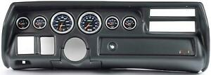70 72 Chevelle Sweep Black Dash Carrier W Auto Meter Cobalt Gauge Gauges