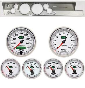 67 69 Barracuda Silver Dash Carrier W Auto Meter 5 Nv Gauges