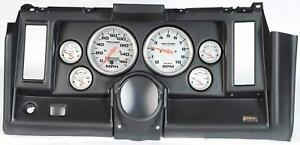 69 Camaro Black Dash Carrier W Auto Meter Ultra Lite Electric 5 Gauges