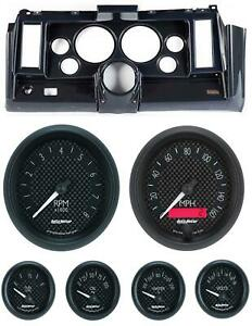 69 Camaro Carbon Dash Carrier W Auto Meter Gt 5 Gauges