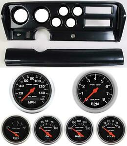 70 72 Gto Carbon Dash Carrier W Auto Meter Sport Comp Electric Gauges