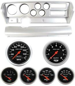 70 72 Gto Silver Dash Carrier W Auto Meter Sport Comp Electric Gauges