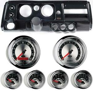 68 Chevelle Carbon Dash Carrier W Auto Meter 5 American Muscle Gauges W Astro