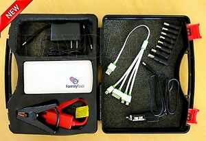 Battery Charger Jump Starter Auto Car Motorcycles Power Bank Emergency Booster